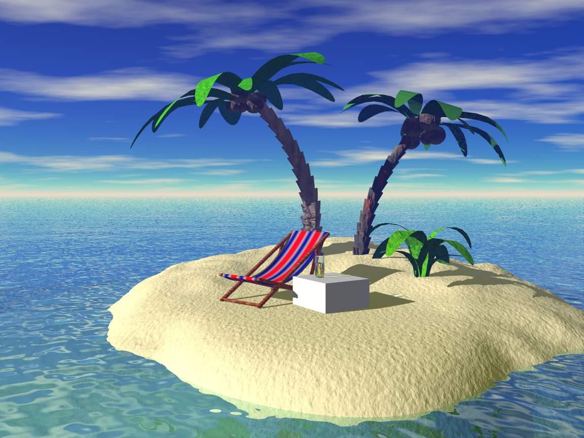 обои остров: